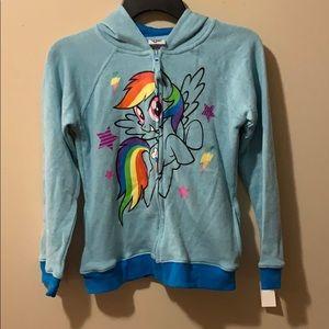 My little Pony zip-up hoodie girls Large 10/12